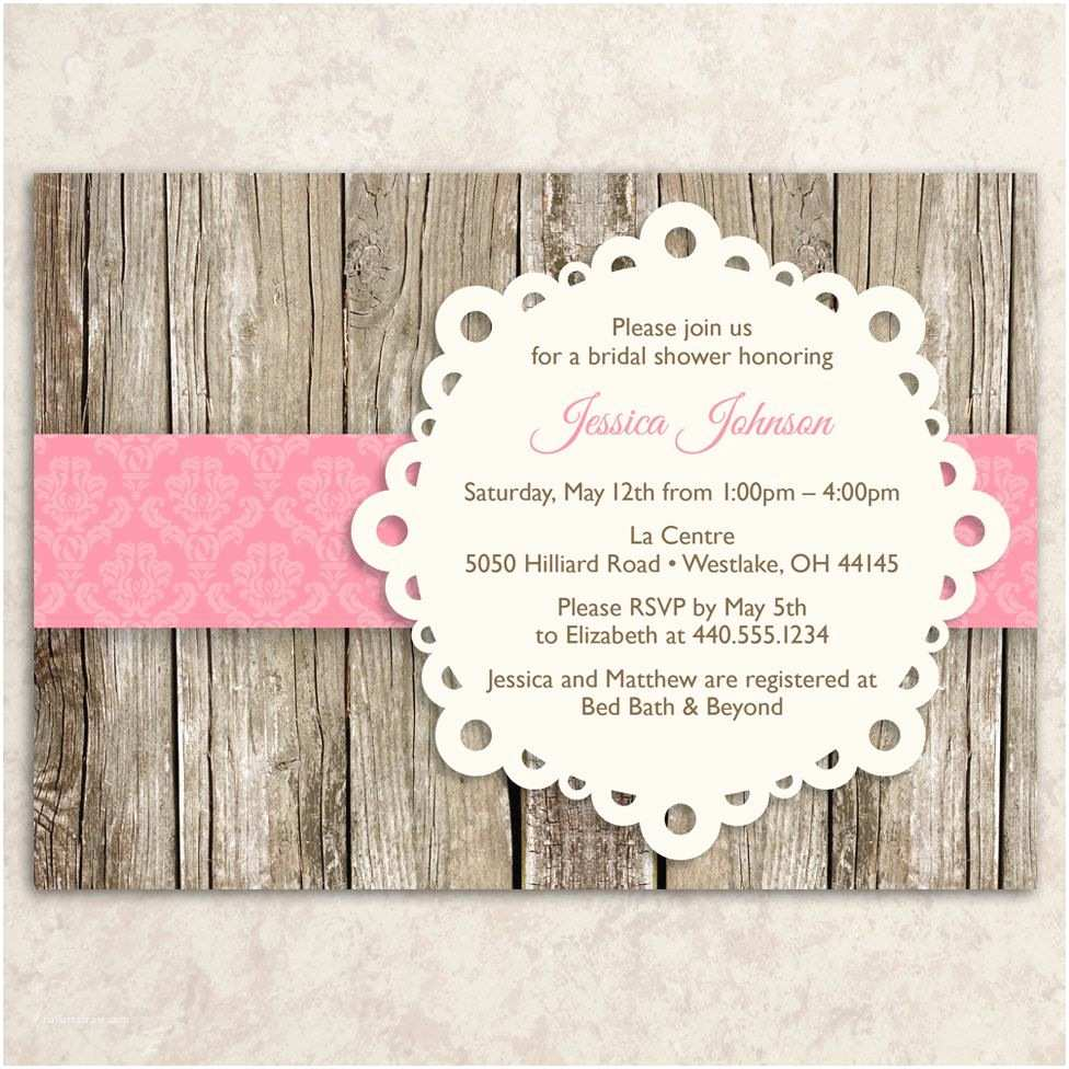 Vintage Baby Shower Invitations Rustic Bridal Shower Invitation Vintage Bridal Shower