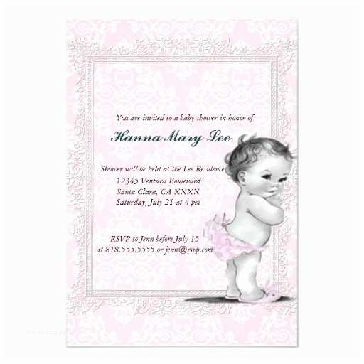 Vintage Baby Shower Invitations Vintage Baby Shower Invitation