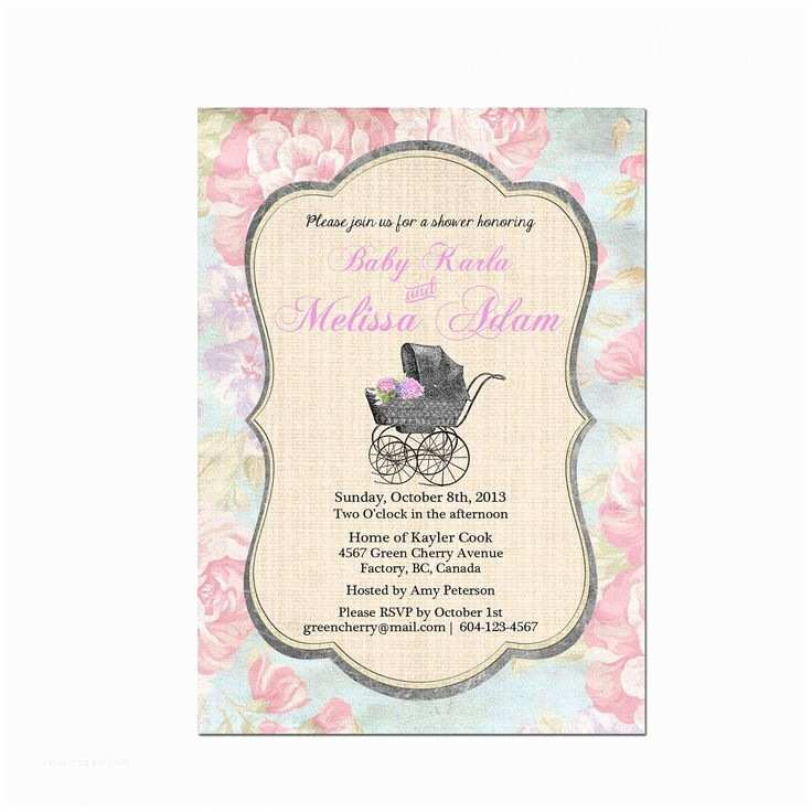 Vintage Baby Shower Invitations Vintage Baby Shower Invitations Girl Party Xyz