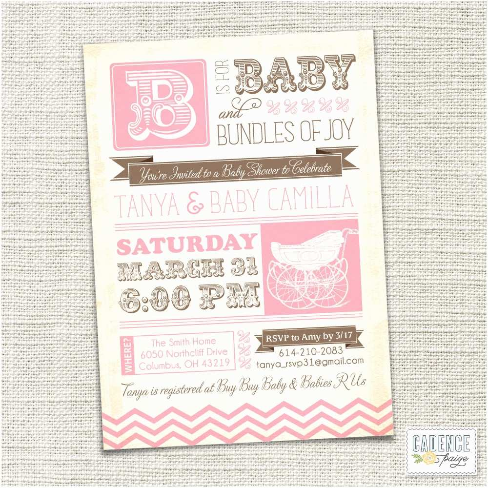 Vintage Baby Shower Invitations Vintage Baby Shower Invitations