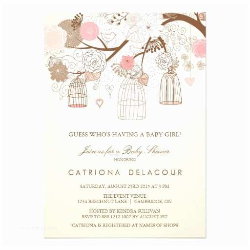Vintage Baby Shower Invitations Vintage Birdcages Floral Baby Shower Invitation