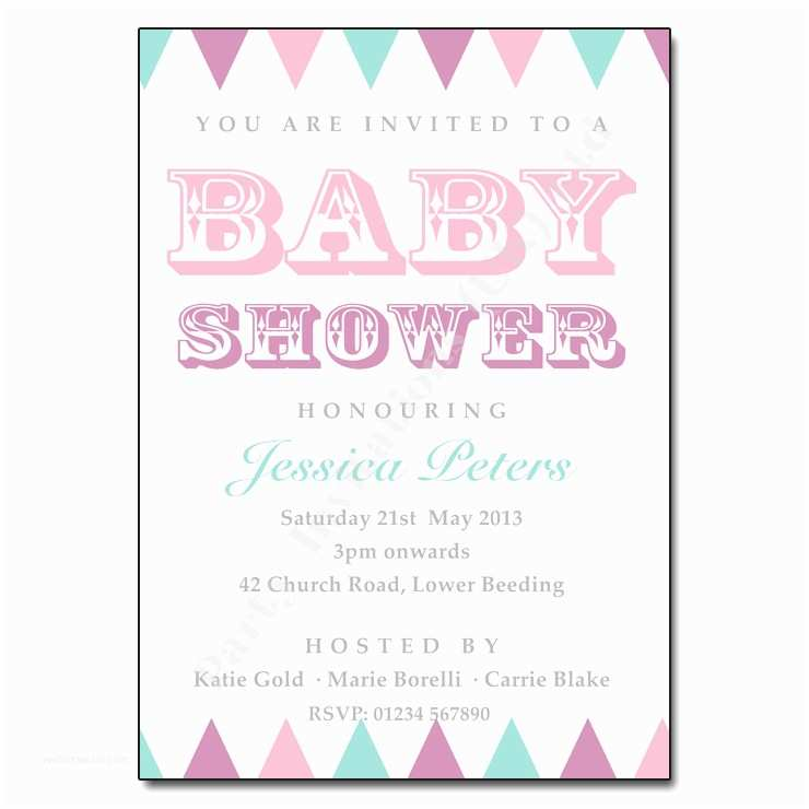 Vintage Baby Shower Invitations Vintage Bunting Baby Shower Invitation