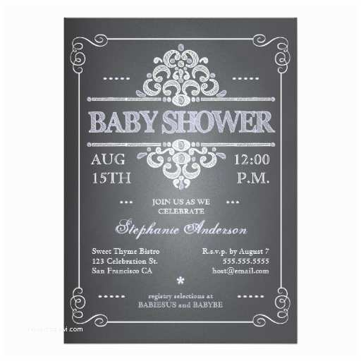 Vintage Baby Shower Invitations Vintage Chalkboard Girl Baby Shower Invitation