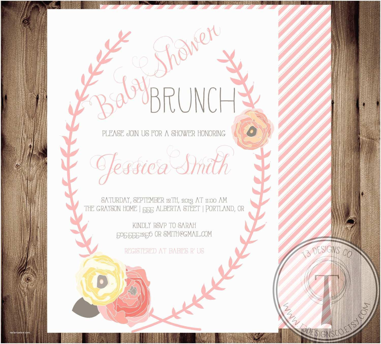 Vintage Baby Shower Invitations Vintage Floral Baby Shower Invitation Baby Shower