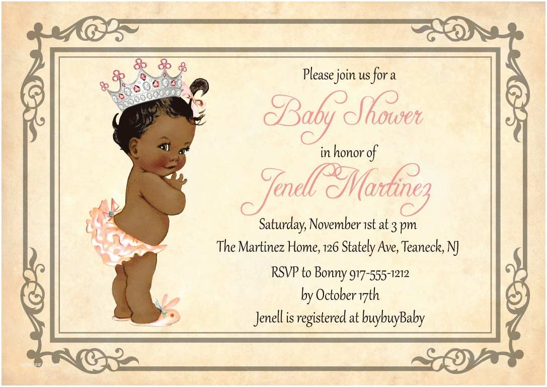 Vintage Baby Shower Invitations Vintage Princess Baby Shower Invitation Vintage Princess
