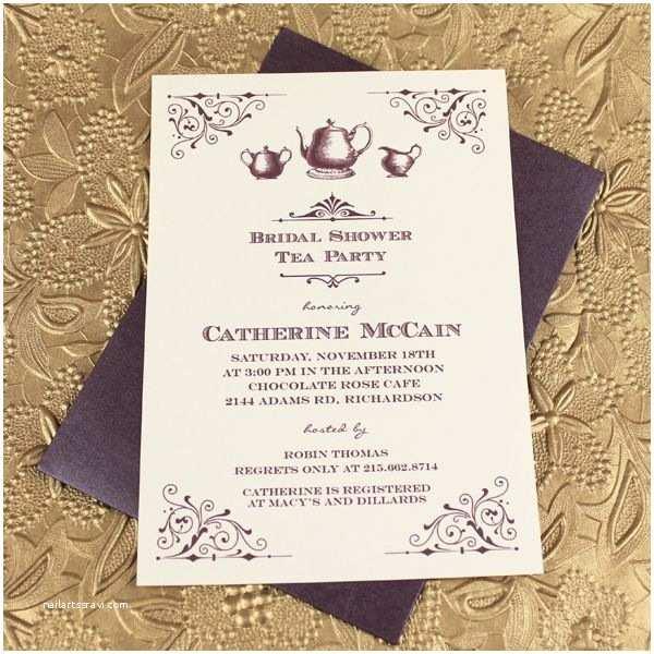 Vintage Bridal Shower Invitations Vintage Bridal Shower Tea Party Invitation Template