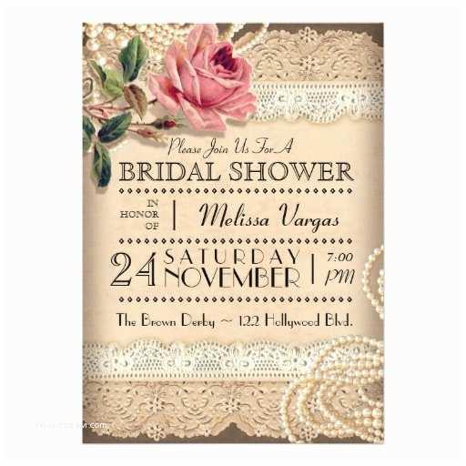 Vintage Bridal Shower Invitations Vintage Rose Bridal Shower Invitations