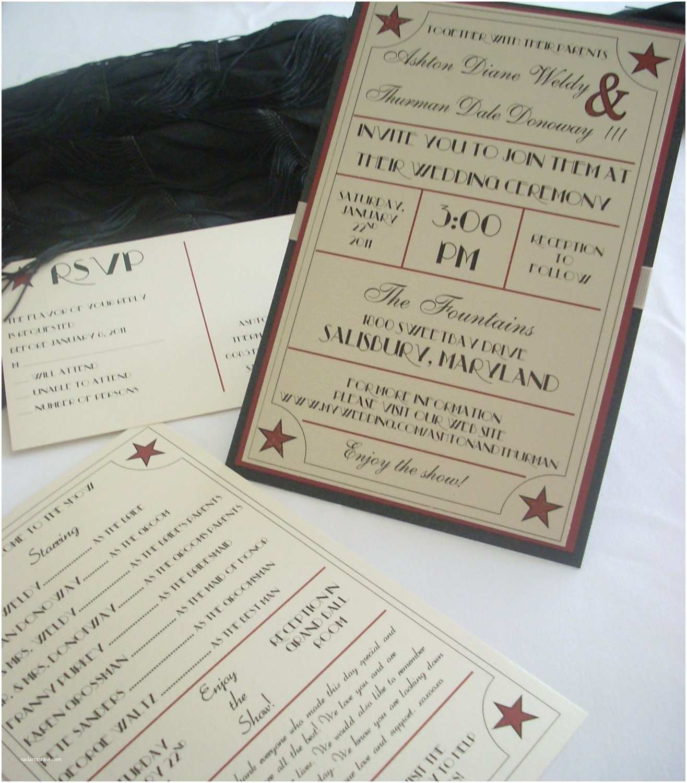 Vintage Hollywood Wedding Invitations 1940 S Old Hollywood Wedding Invitation by