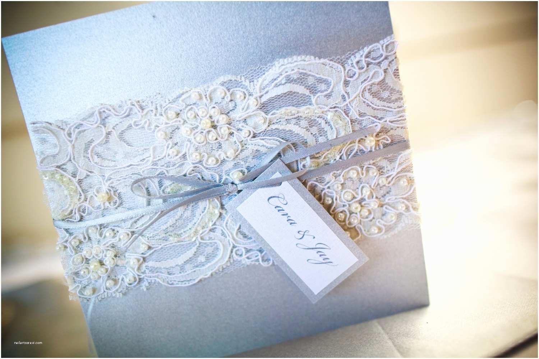beaded lace wedding invitation vintage