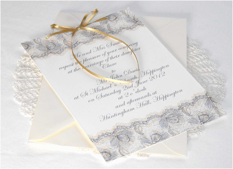Vintage Lace Wedding Invitations Lace Wedding Invitations
