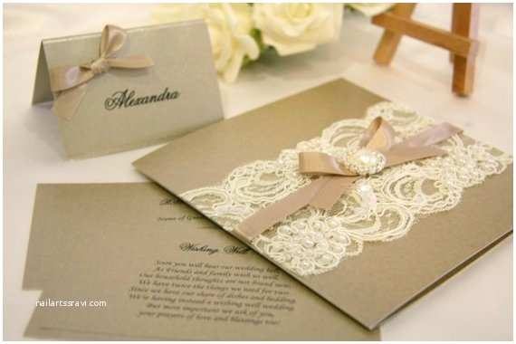 Vintage Lace Wedding Invitations Special order for Melissa 50x Vintage Lace Wedding
