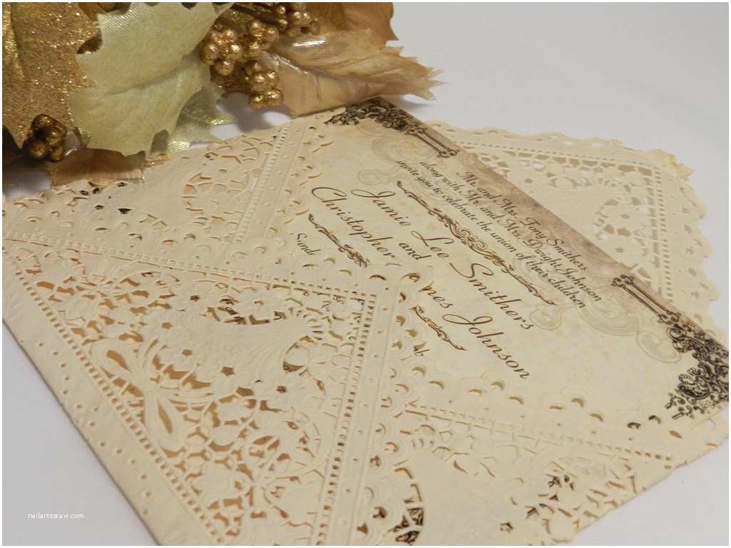 Vintage Lace Wedding Invitations Vintage Lace Wedding Invitations for Classical Look