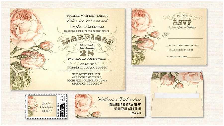 Vintage Rose Wedding Invitations Read More – Vintage Pink Roses Wedding Invitation