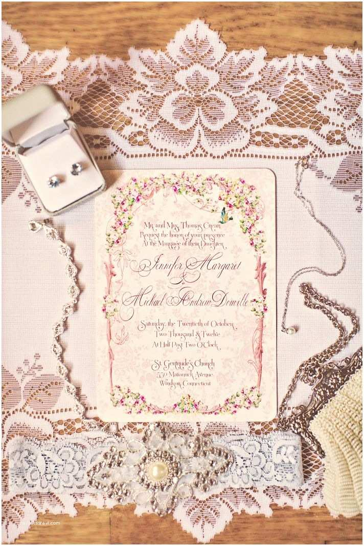 Vintage Rose Wedding Invitations Romantic Vintage Pink Wedding Invitations