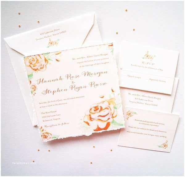 Vintage Rose Wedding Invitations Vintage Painted Roses Wedding Invitations