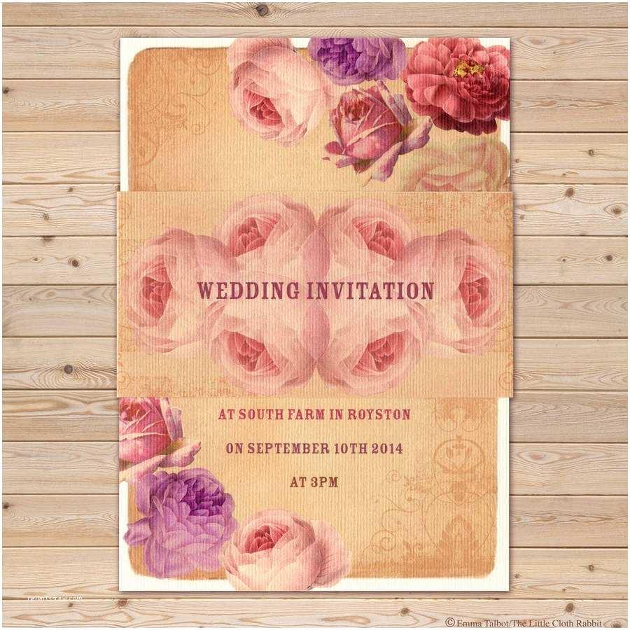 Vintage Rose Wedding Invitations Vintage Rose Garden Tea Party Wedding Invitations by the