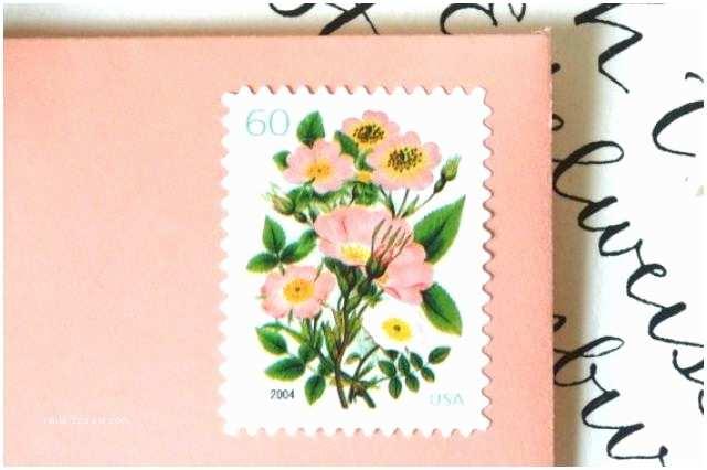 Vintage Stamps for Wedding Invitations 10 Unused Vintage Stamps Vintage Coral Flower Bouquet