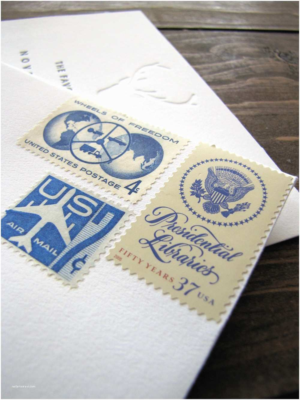 Vintage Stamps for Wedding Invitations Campestral Vintage Stamps for Wedding Invitations