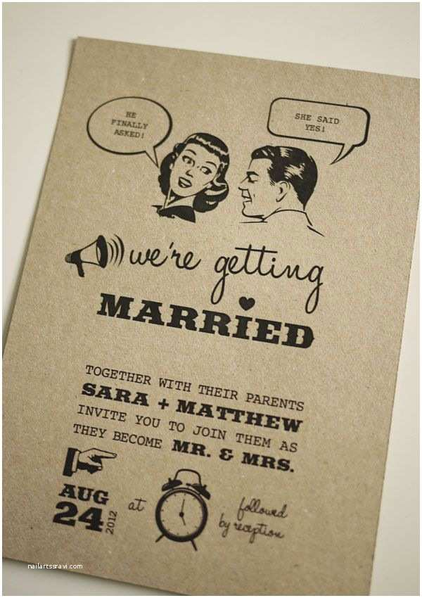 Vintage Style Wedding Invitations 1950 S Retro Wedding Invitation