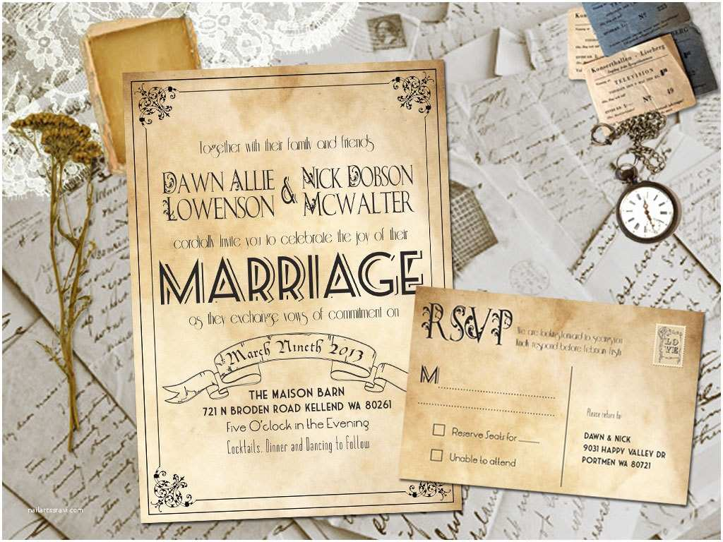 Vintage Style Wedding Invitations Best Selection Rustic Vintage Wedding Invitations