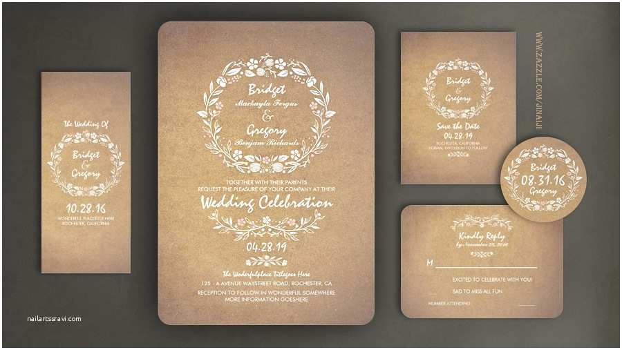 Vintage Style Wedding Invitations Read More – Floral Cute Wedding Invitation with Modern yet