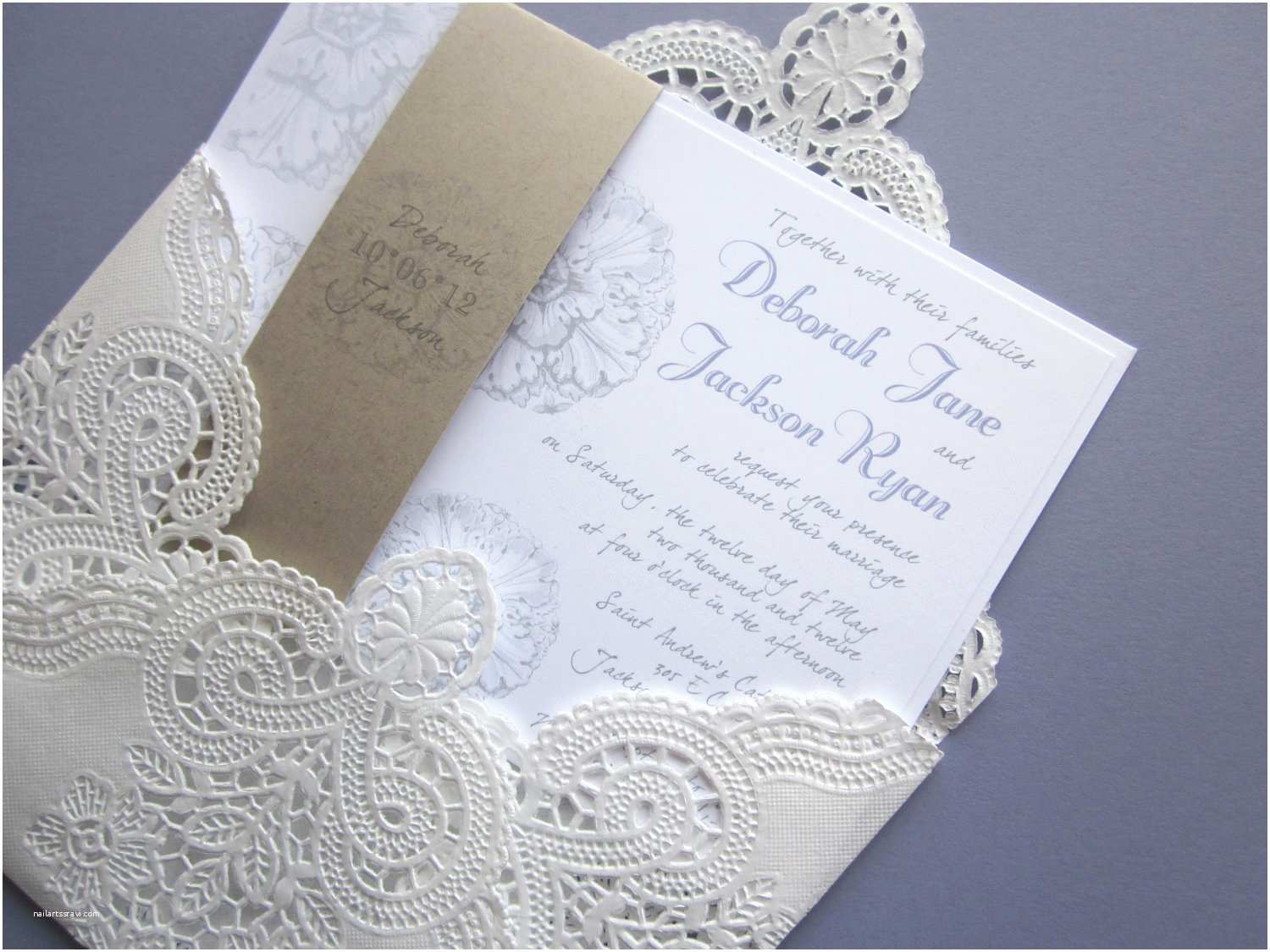 top collection of vintage lace wedding invitations