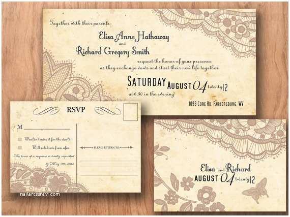 Vintage Style Wedding Invitations Vintage Wedding Invitation Templates