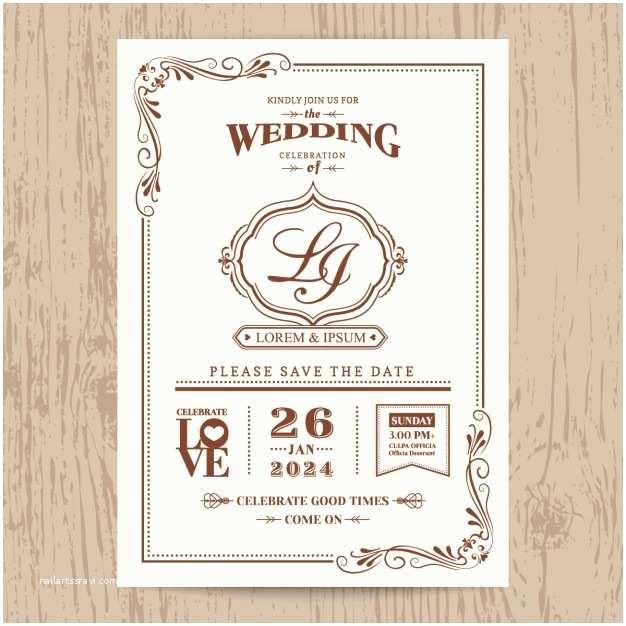Vintage Style Wedding Invitations Wedding Invitation Vintage Style Vector