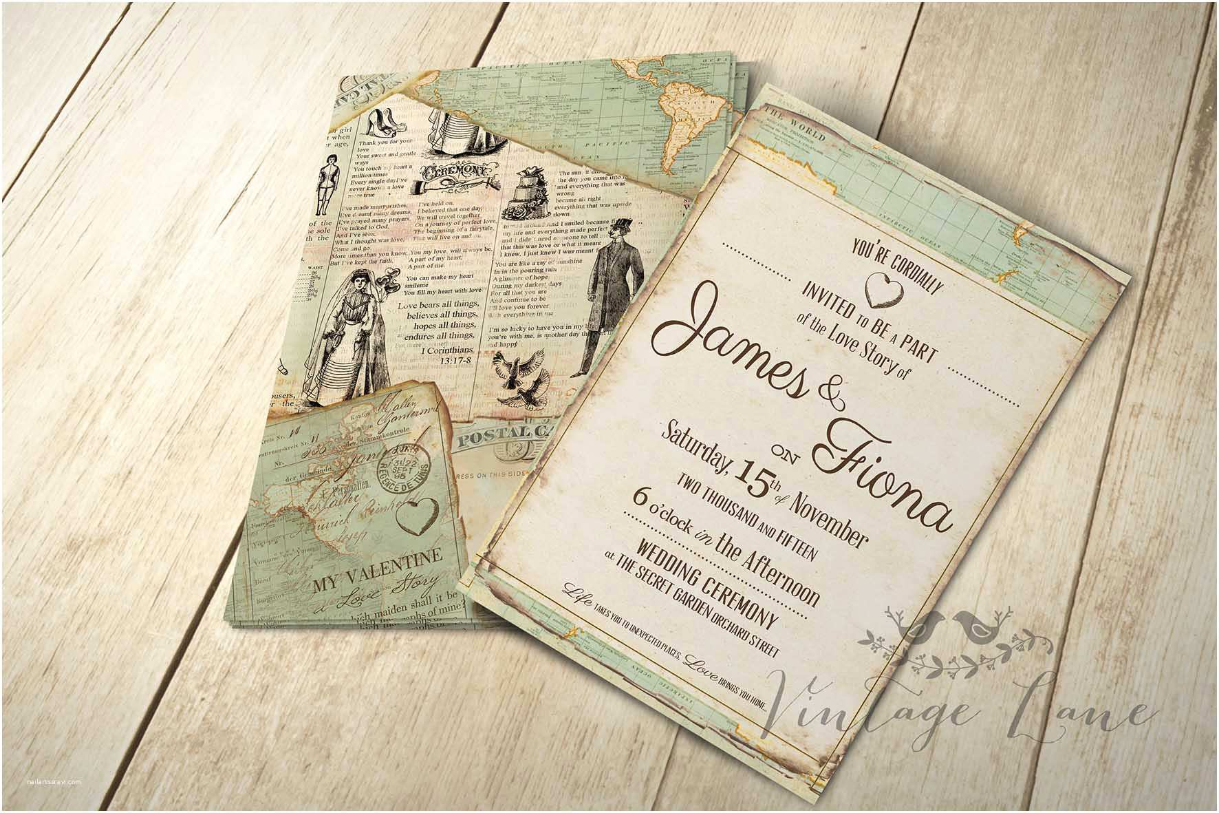 Vintage Style Wedding Invitations Wedding Invitations