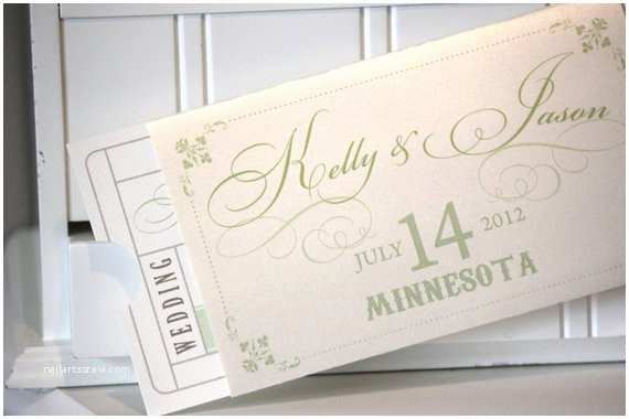 Vintage Ticket Style Wedding Invitations Items Similar to Wedding Invitations Ticket Invitations