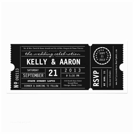 Vintage Ticket Style Wedding Invitations Vintage Playbill theater Ticket Wedding Invitation