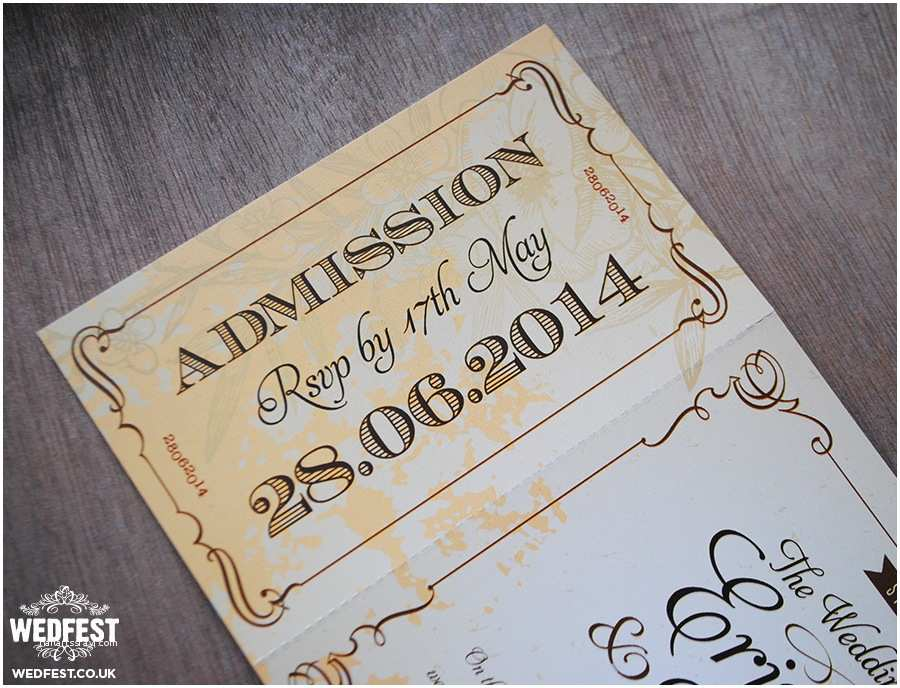 Vintage Ticket Style Wedding Invitations Vintage Ticket Wedding Invites