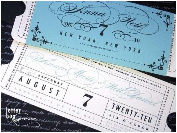 Vintage Ticket Wedding Invitations formal Vintage Ticket Wedding Invitation