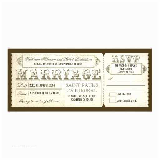 old vintage wedding invitations tickets rsvp