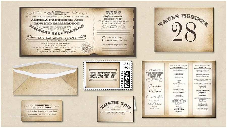 Vintage Ticket Wedding Invitations Read More – Vintage Wedding Invitation Ticket