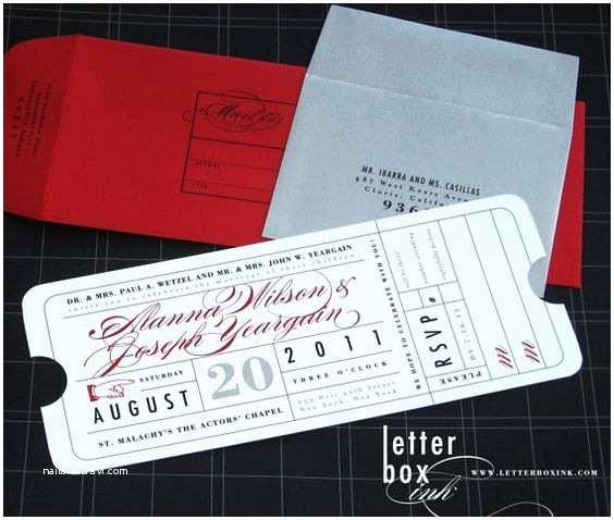 Vintage Ticket Wedding Invitations Ticket Wedding Invitation Hollywood theater Movie