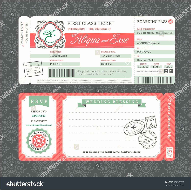 Vintage Ticket Wedding Invitations Vintage Boarding Pass Ticket Wedding Invitation Stock