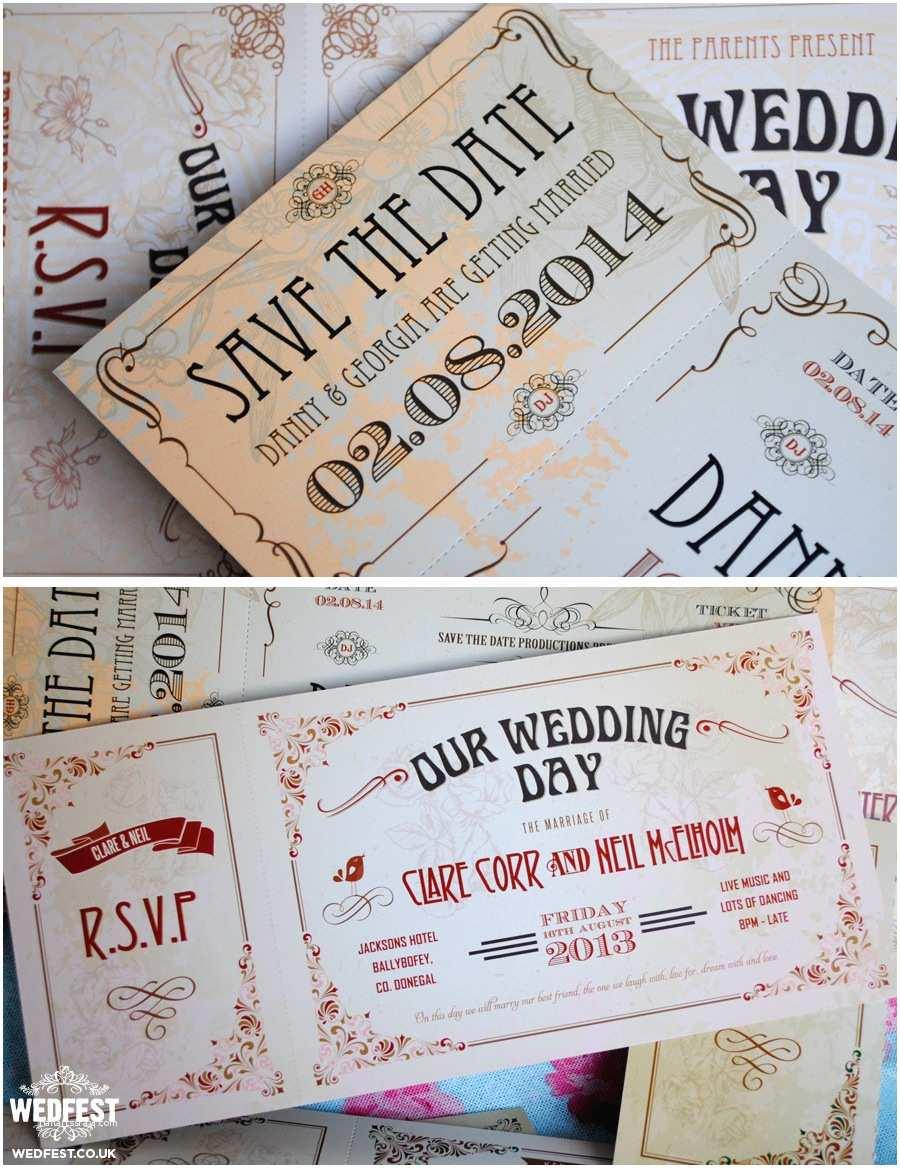 Vintage Ticket Wedding Invitations Vintage Ticket Style Wedding Invites