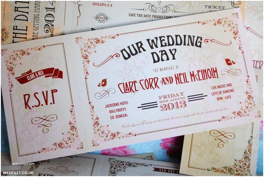 Vintage Ticket Wedding Invitations Vintage Ticket Wedding Invitations