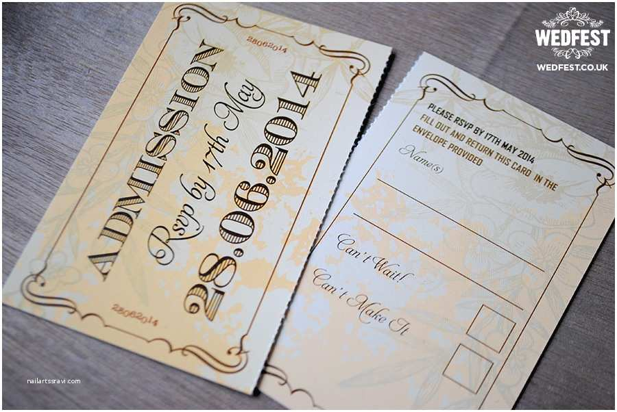 Vintage Ticket Wedding Invitations Wedding Invitations that Look Like Tickets