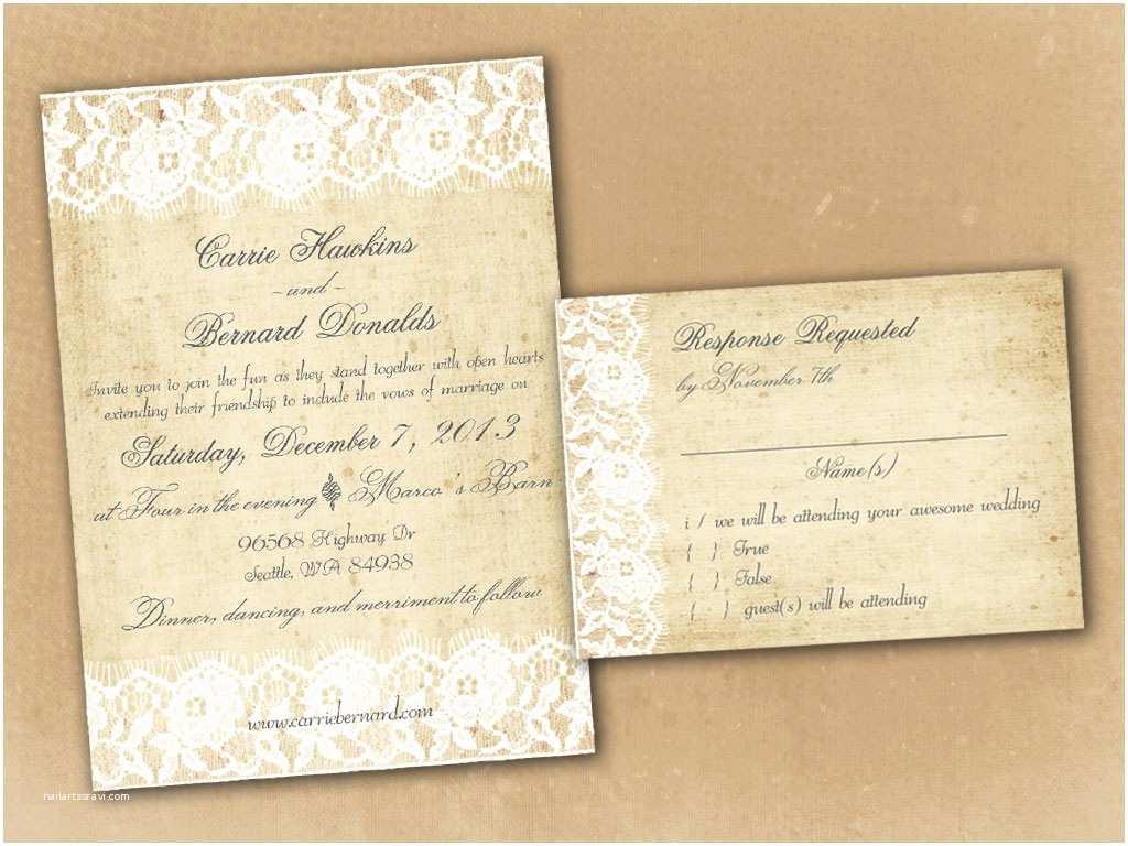 Vintage Wedding Invitation Templates Rustic Invitation Template Invitation Template