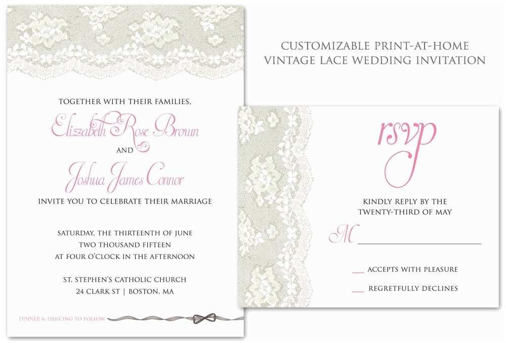 Vintage Wedding Invitation Templates Vintage Wedding Invitation Templates