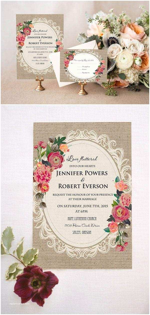 Vintage Wedding Invitations Cheap Cheap Vintage Rustic Roses Wedding Invitations Ewi397