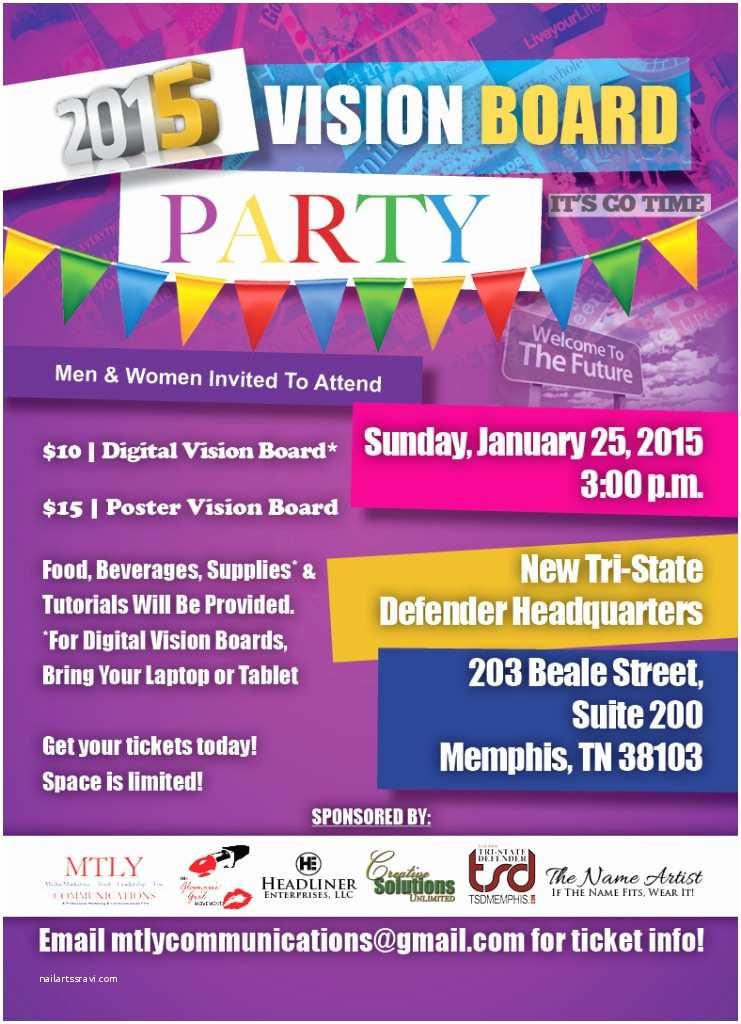 Vision Board Party Invitation 2015 Vision Board Party today Divine Magazine