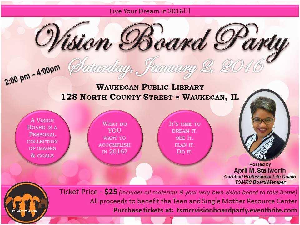 Vision Board Party Invitation 2016 Vision Board Party Tickets Sat Jan 2 2016 at 2 00