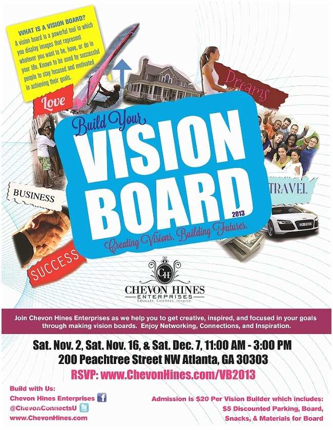 Vision Board Party Invitation Build Your Vision Board 2013 Creating Visions Building