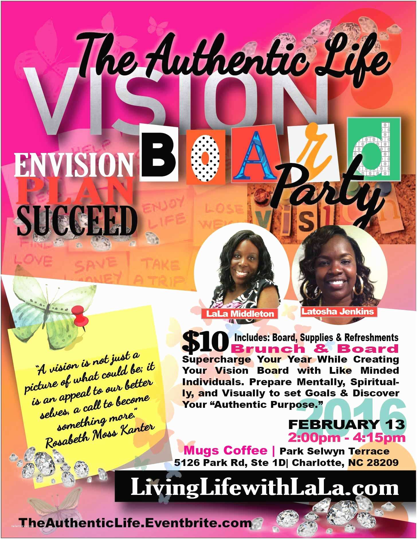 Vision Board Party Invitation the Authentic Life Vision Board Party Tickets Sat Feb