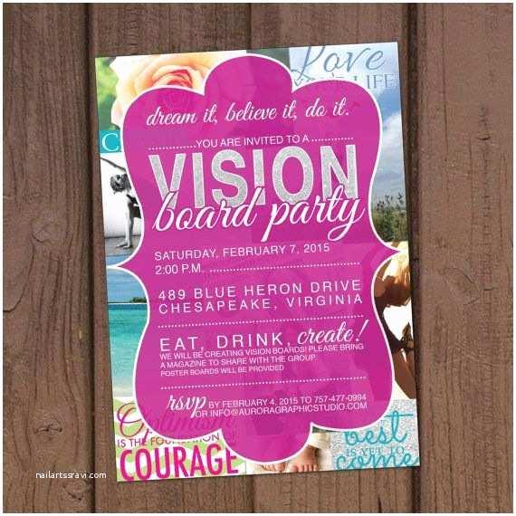 Vision Board Party Invitation Vision Board Party Invitation by Aurora Graphic Studio S