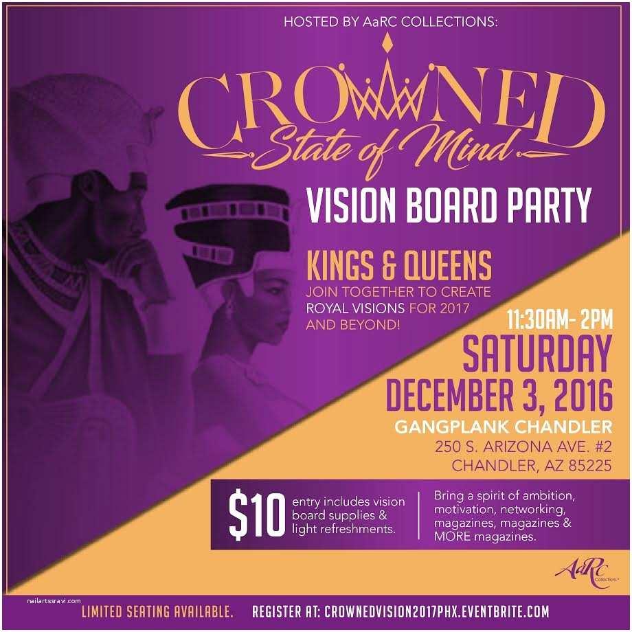 Vision Board Party Invitation Vision Board Party Invitations