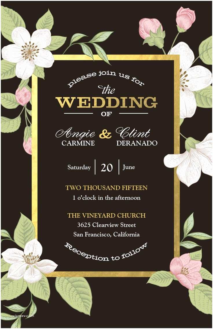 Vista Wedding Invitations evening Wedding Invitations Vistaprint Matik for